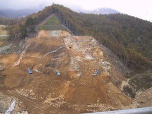 琴川ダム本体工事